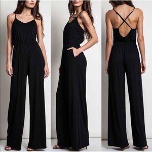 Pants - Soft Criss Cross Sleeveless Jumpsuit